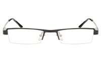 QIANDU 10052 Stainless Steel Womens Semi-rimless Square Optical Glasses